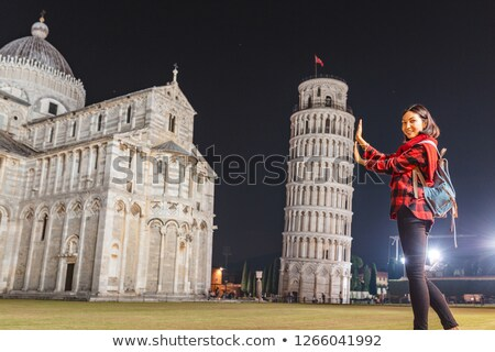 The Duomo and Leaning Tower of Pisa at dusk Stock photo © Digifoodstock