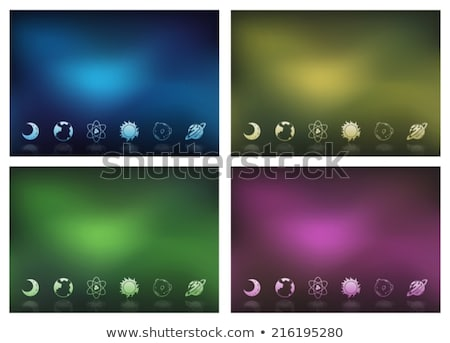 Templates showing the objects in the outerspace Stock photo © bluering