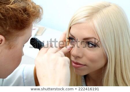 Kız gözler çocuk arka plan sanat çocuk Stok fotoğraf © bluering