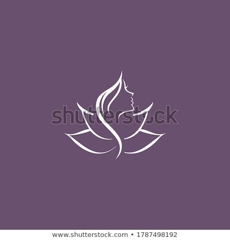 Stok fotoğraf: Güzellik · lotus · logo · şablon · vektör · çiçekler