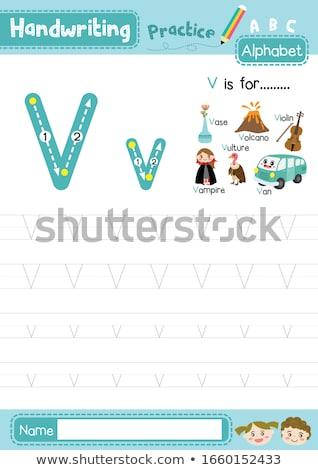Flashcard letter V is for vase Stock photo © bluering