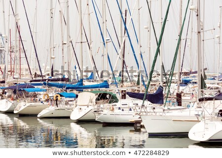 The numerous yachts moored in the port of Larnaca, Cyprus Stock photo © Kirill_M
