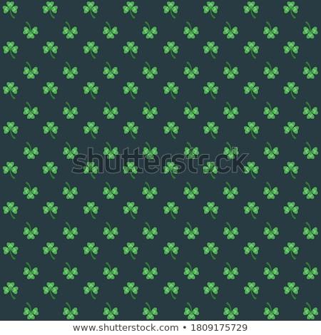 Zöld lóhere díszített stilizált tavasz fény Stock fotó © blackmoon979