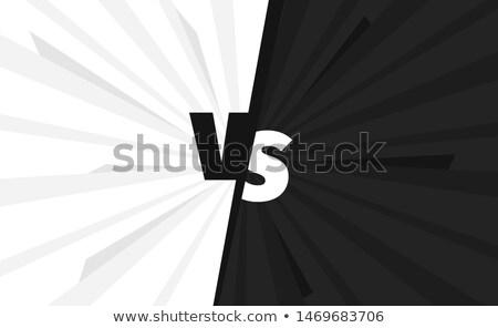 ellenkező · feketefehér · illusztráció · férfi · háttér · művészet - stock fotó © bluering