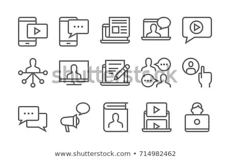 Blogging illustration ligne design seo promotion Photo stock © kali