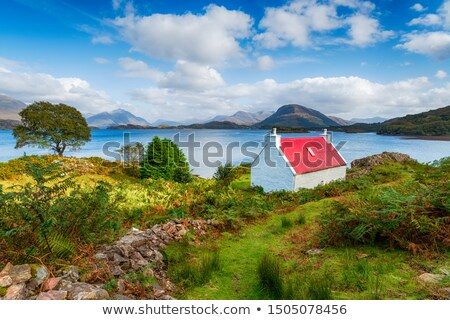 View of shoreline and red roofs. Stock photo © rglinsky77
