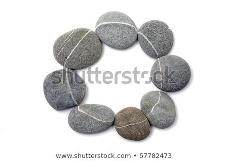 Ciottolo cerchio pietra bianco natura Foto d'archivio © mady70