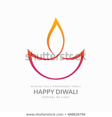artistic diwali diya on white background Stock photo © SArts
