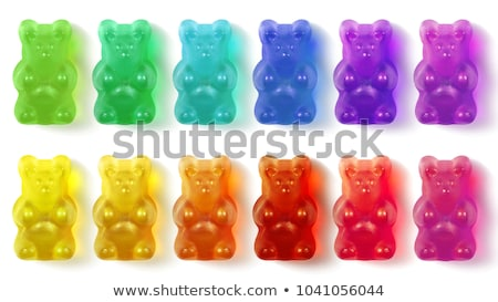 ayılar · üç · çatal · gıda · şeker · parlak - stok fotoğraf © digifoodstock