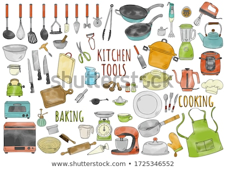 Colorful kitchen tool icons Stock photo © kariiika