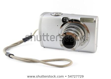 Zwarty aparat cyfrowy worek tle czarny biały Zdjęcia stock © raywoo