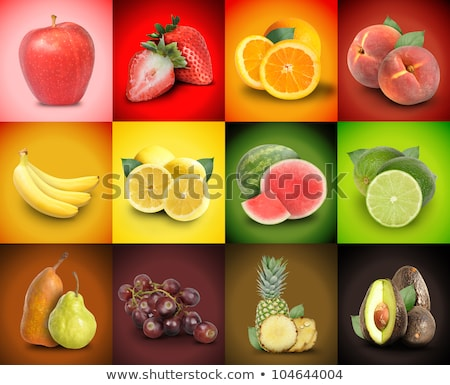 Mosaic fruits lemon, banana orange pinapple Stock photo © user_11397493