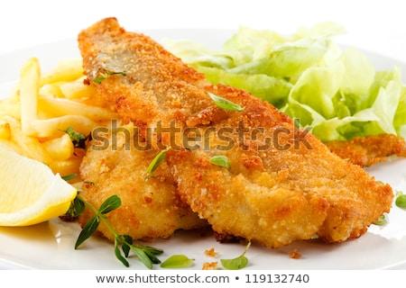 Balık taze salata yatak akşam yemeği Stok fotoğraf © Digifoodstock