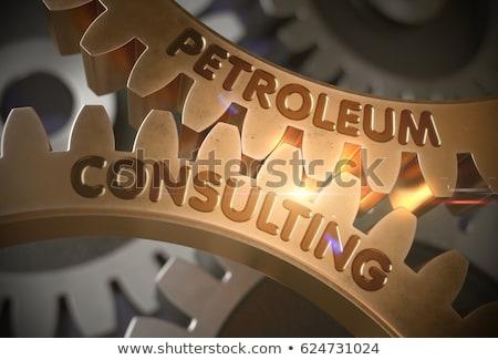 Mühendislik danışman altın madeni dişliler 3D Stok fotoğraf © tashatuvango