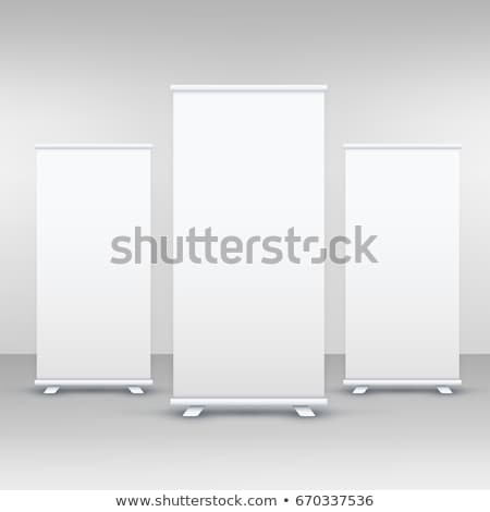 three standee or rollup banner display mockup stock photo © SArts
