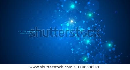 Photo stock: Moléculaire · illustration · numérique · molécules · résumé · construction · médecine