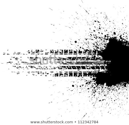 抽象的な グランジ タイヤ インク スプラッタ 車 ストックフォト © SArts