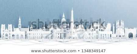 reizen · Europa · papier · gesneden · wereld · monumenten - stockfoto © cienpies