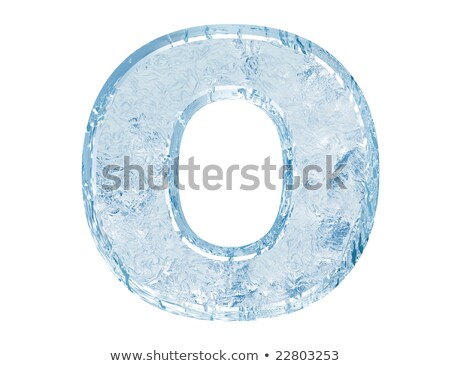 Ice font letter O 3D Stock photo © djmilic