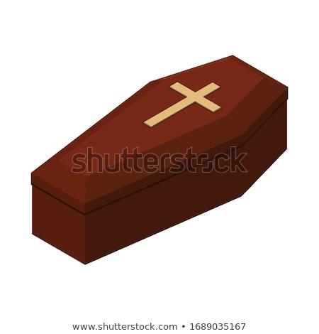 Fechado caixão isolado vermelho corpo Foto stock © MaryValery
