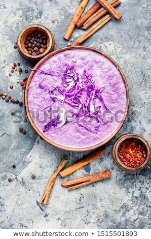 piros · káposzta · felső · kilátás · étel · természet - stock fotó © m-studio