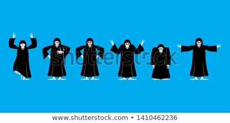 Zestaw ruchu śmierci szczęśliwy jogi Zdjęcia stock © popaukropa