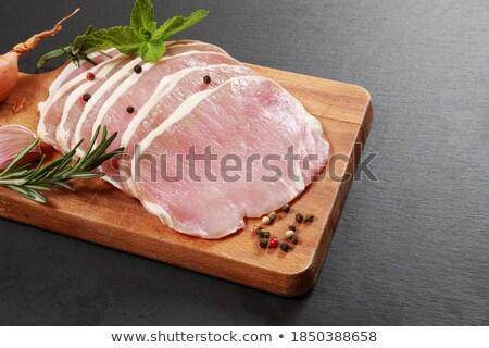 生 · 豚肉 · 腹 · スライス · 孤立した · 白 - ストックフォト © digifoodstock