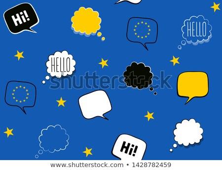 üdvözlőlap európai nap nyelvek 26 nyelv Stock fotó © Olena