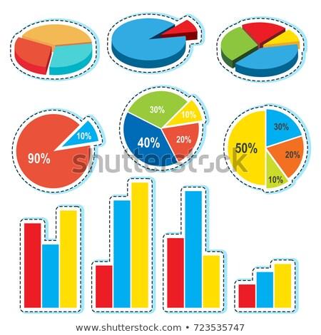 Különböző dizájnok háttér művészet csoport diagram Stock fotó © bluering