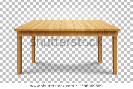 Stockfoto: Wooden Board Top On Transparent Background