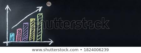 öğrenmek istatistik yeşil kara tahta karalama Stok fotoğraf © tashatuvango