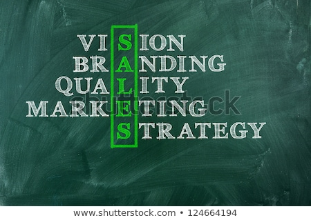 sales plan handwritten on chalkboard stock photo © tashatuvango