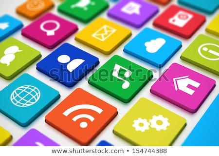 Cliente conectividade teclado chave mão empurrando Foto stock © tashatuvango