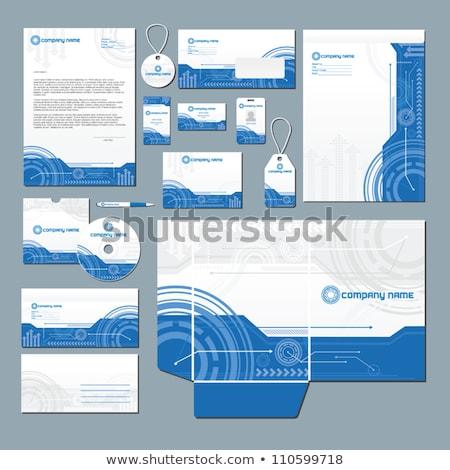 Sauber grau Briefkopf Design-Vorlage drucken Corporate Stock foto © SArts