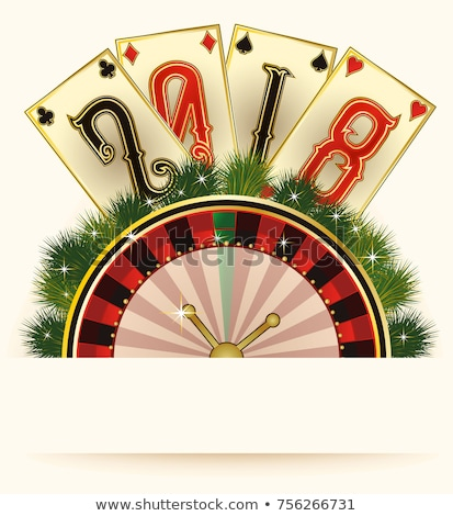 casino christmas invitation card new 2018 year vector illustration stock photo © carodi