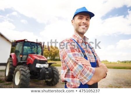 фермер · Постоянный · грабли · стороны · продовольствие · джинсов - Сток-фото © is2