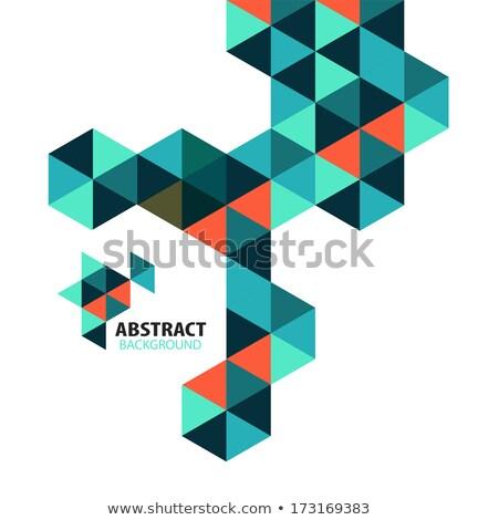 rhino colorful mosaic pattern Stock photo © vector1st