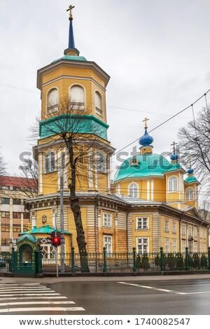 Ryga prawosławny kościoła dziewica Łotwa miasta Zdjęcia stock © benkrut