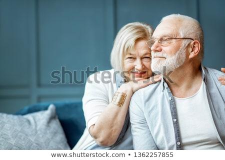 Senior couple portrait close-up Stock photo © IS2