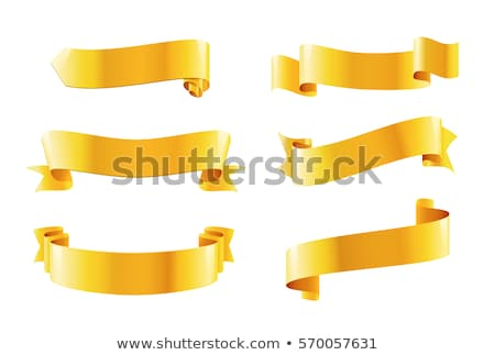 Decorative red curved ribbon isolated icon Stock photo © studioworkstock
