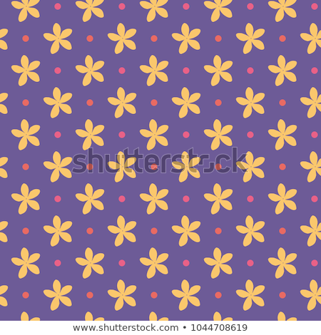 Ultra violet seamless pattern with flowers and dots. Vector illustration Stock photo © gladiolus