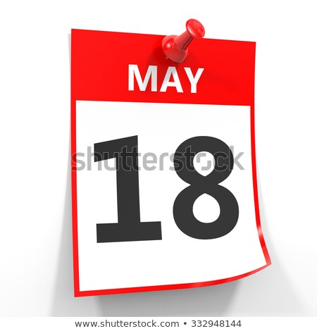 Wall calendar with a red pin - May 18 Stock photo © Zerbor
