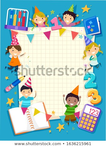 Crianças ábaco ilustração gigante básico Foto stock © lenm