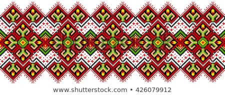 Russian and ukrainian folk embroidery, patterns. Vector illustration. Stock photo © FoxysGraphic