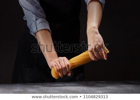 siyah · spagetti · beyaz · yaprak · sağlık - stok fotoğraf © artjazz
