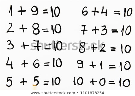 An Educational Math Addition to 10 Stock photo © bluering