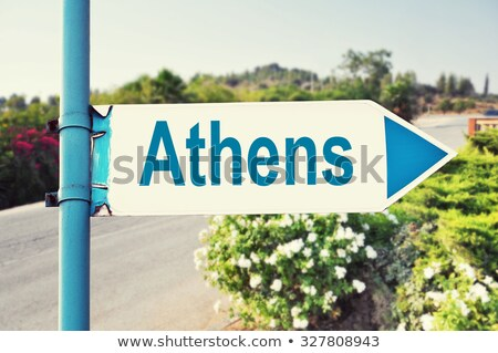 Atina Akropol imzalamak Stok fotoğraf © fazon1