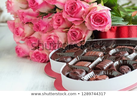 шоколадом конфеты цветок форма праздник продовольствие Сток-фото © Melnyk