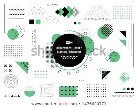 soyut · yarım · ton · arka · vektör · ayarlamak · yalıtılmış - stok fotoğraf © essl