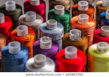 Stok fotoğraf: Renkli · örgü · kumaş · çalışmak · kırmızı · karanlık